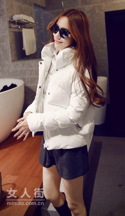 20款韩版时尚棉服 简约收身最流行